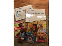 Makaton singing and signing set dvd books cd