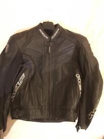 Wolf Titanium Leather Bike Jacket.