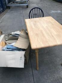 Ex display table & 4 chairs