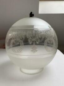 Victoria Style Glass Globe light fitting