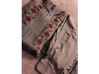 Pakistani Stitched 3pcs embroidered dress medium