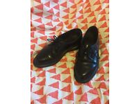Black leather Doc/Dr Marten shoes size 6