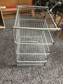 IKEA metal draws x2 available