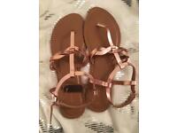 Women's rose gold sandals