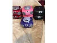 Groov-e GVPS713 Boombox CD Player with Radio job lot