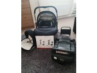 Blue silver cross car seat and base isofix