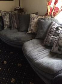 Sofa and love seat.