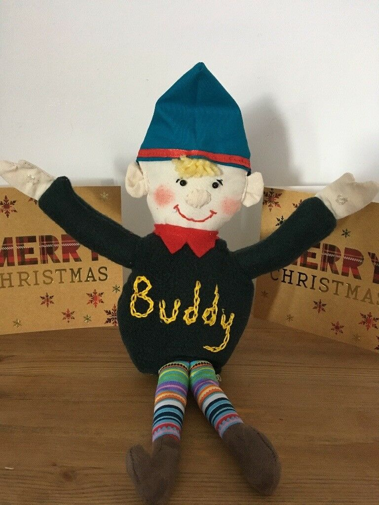 "Elf on a shelf ""BUDDY"" full of safety stuffing/mischeif handmade & washable"