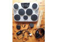 Digital drums pad - X Drum DD150, silver. Size: 50cmx36cmx18cm