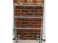*** REDUCED *** Traditional Style Ball Jointed Chrome on Brass Heated Towel Rail