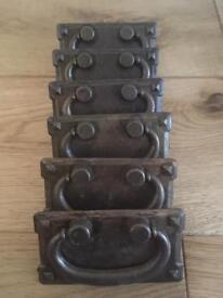 6 brand new metal 76mm gate pull handles.
