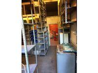 metal shelving racking for warehouse, garage, storage, stockroom shelves