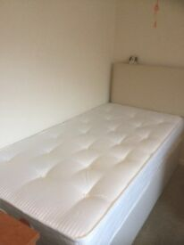 Single bed with mattress and headboard - barely used