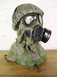 Vintage 1987 US M17 A1 A2 Chemical Bio NBC Gas Mask Hood M6A2 NOS