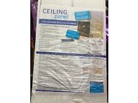 Pvc ceiling panels, white with chrome strip, 2700 long 250 wide, one pack unopened £15