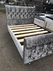 BRAND NEW DOUBLE CRUSHED VELVET BED