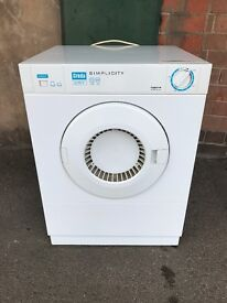 Compact Creda Simplicity Tumble Dryer T320vw 3Kg in White.