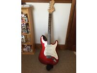 Fender Squire Strat with case and strap