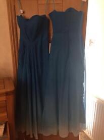 Ombré blue dresses brand new