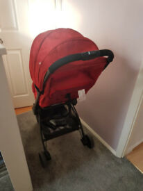 Joie Pact pram in red
