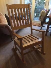 Rocking Chair - Solid oak