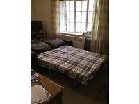 Sofa Bed - Dark Brown - Excellent Condition