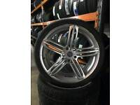 Audi Q7 S line alloy wheels and tyers