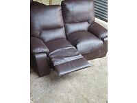 2+3 leather sofa very good condition £100
