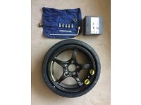 SLK R170 SPACE SAVER WHEEL AND TYRE (NEVER USED!) PLUS JACK-KIT AND CAR MANUAL