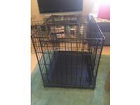 "Ellie-Bo Puppy/Dog Folding 2 Door Crate (36"" black)"