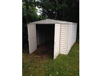 Robust plastic outdoor shed