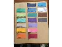 20 used Colorama backdrops - 9ft - mix of colours