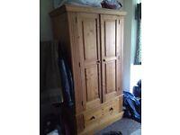Big wooden wardrobe