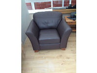 Leather Chair Exc. Condition £50