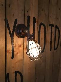 X6 industrial style wall lights with Edison bulbs