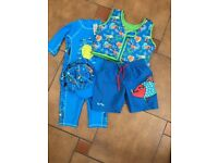 Zoggs Swim Jacket& M&S swim suit - age 2-3