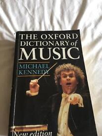 THE OXFORD DICTIONARY OF MUSIC can deliver lots on sale look