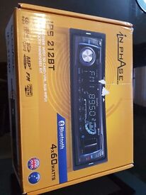 Hands free car radio only £20. RRP £80. Includes fm radio, bluetooth, USB, aux.excellent condition