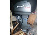Outboard 60 Mariner engine remotes for sale. 2 stroke auto lube. Ptt. In good condition. £1600