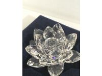 Swarovski water lily candle holder