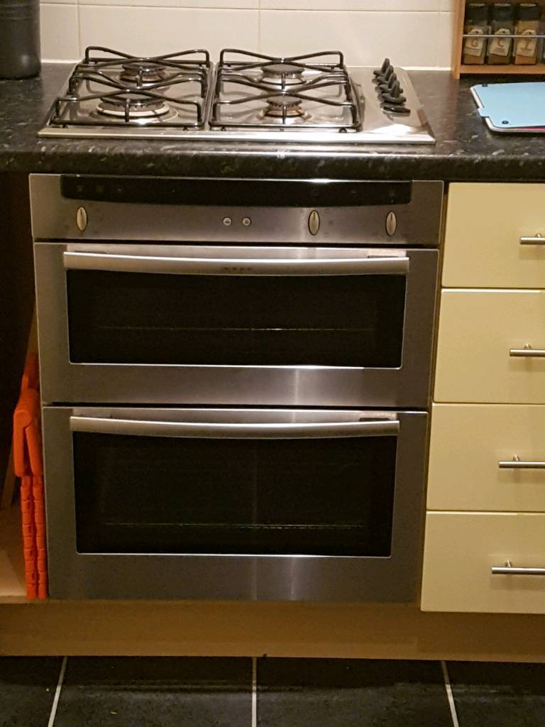Neff double oven and grill with 4 ring hobs