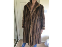 Ladies Real Fur Full Length Mink Coat