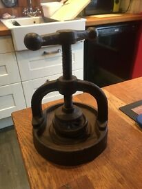 Cast iron nut cracker fun item for Christmas maybe