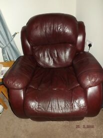 2 x Mulberry Recliner Sofas + 1 recliner chair