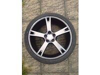 ABT Sportsline Audi Q7 Grey 5 spoke VW Porshe 22 inch genuine alloy wheel 285