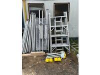 Boss youngman aluminium scaffold towers 6.2 meters working height