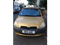 Yaris for repair or spares. Can be driven away.