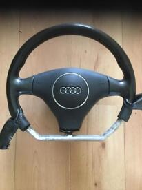 AUDI A3 FLAT BOTTOMED STEERING WHEEL