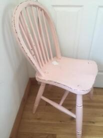 ***vintage chair** shabby chic pink **