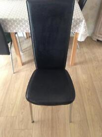 4 black dining chairs